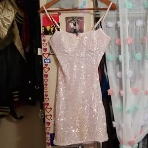 Windsor iridescent sequined mini dress size S